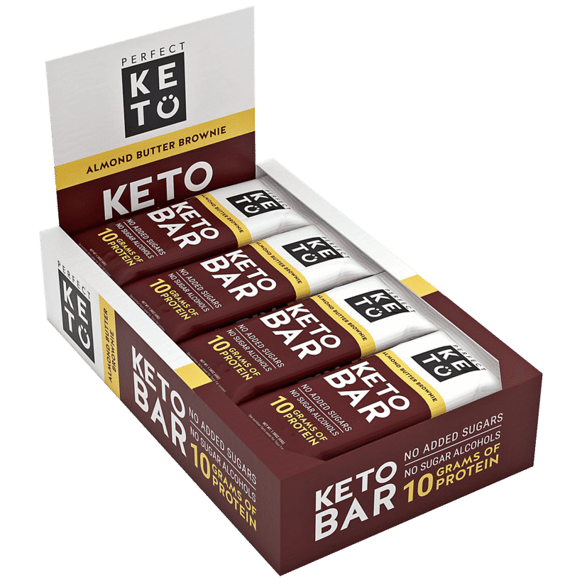 Perfect Keto: Almond Butter Brownie Keto Bar