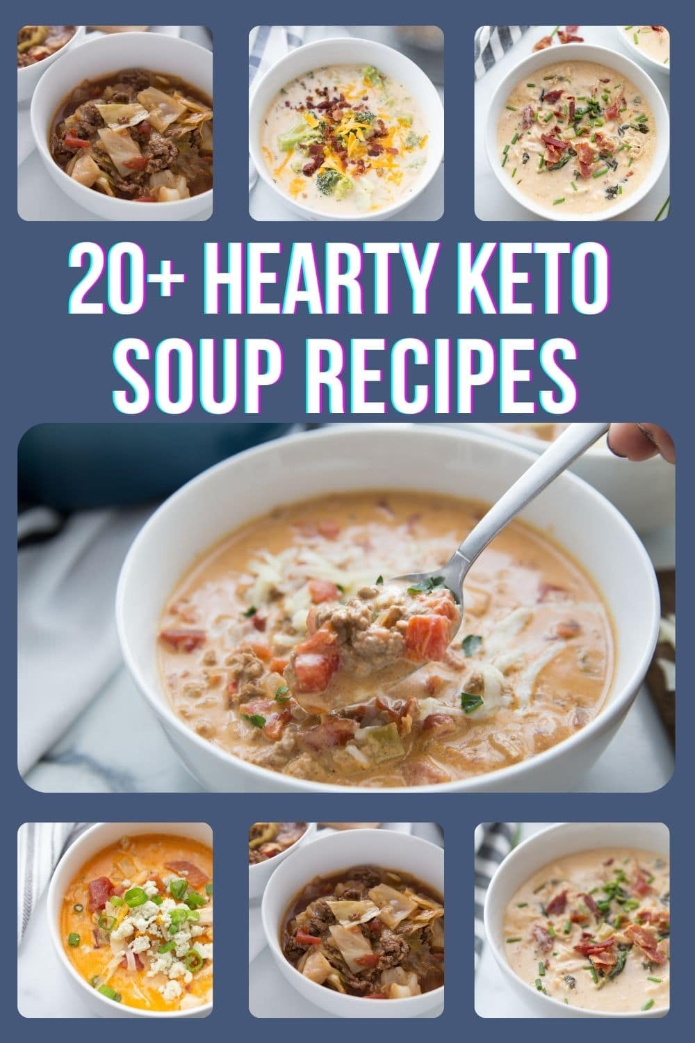 keto soup collage image for roundup post