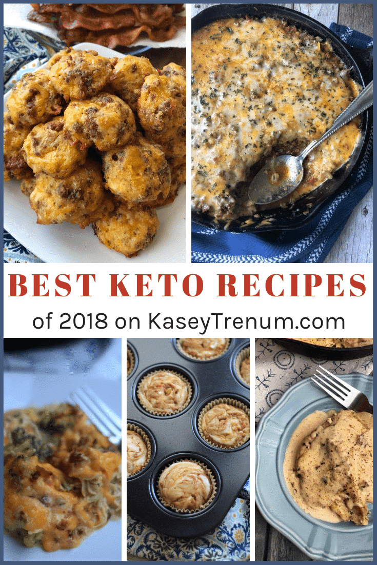 Best Keto Recipes of 2018 includes appetizers, soups, main dishes, and a sweet treat.