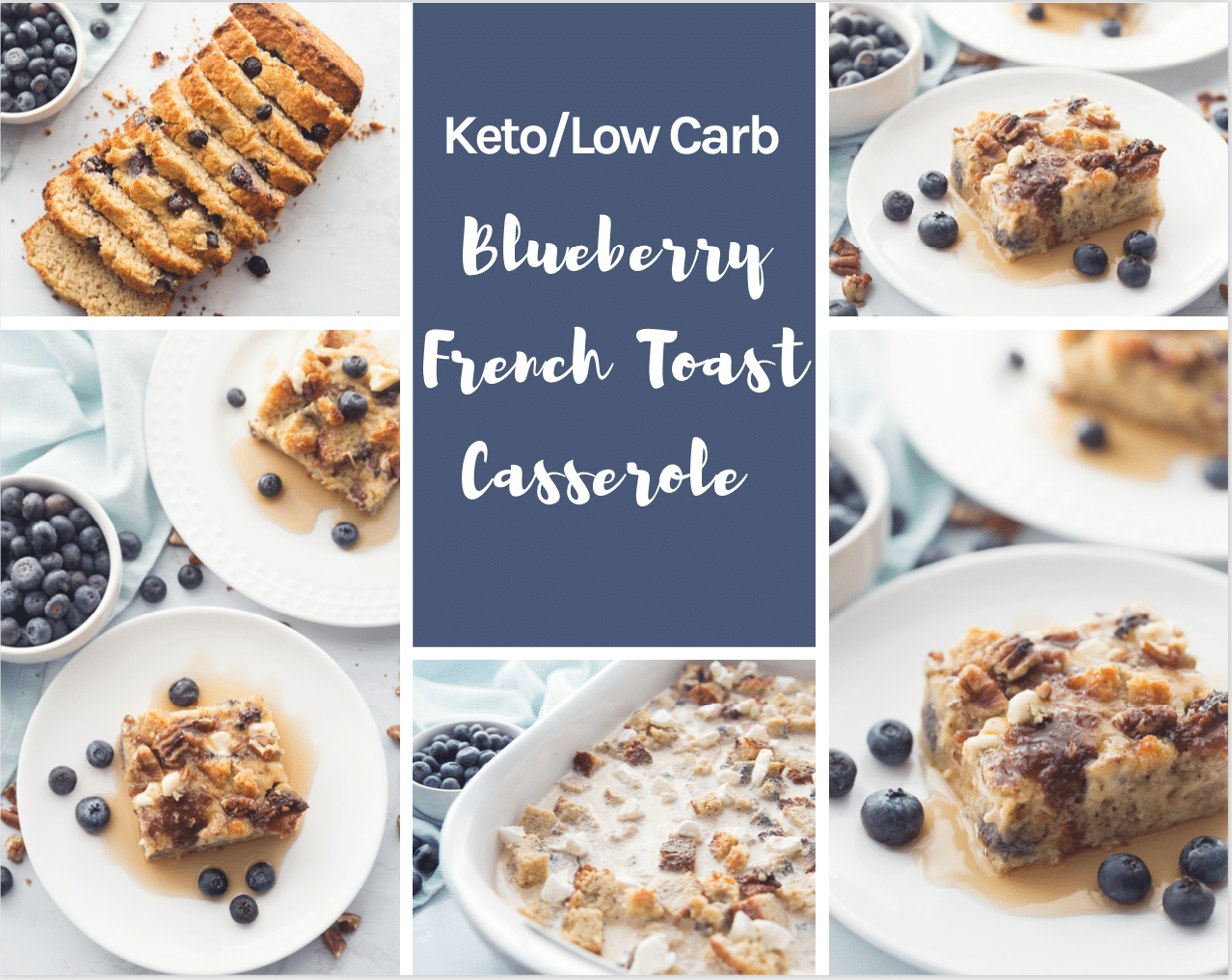 Waking up to a hearty and delicious Keto breakfast is the perfect way to start the day! This Keto Blueberry French Toast Casserole is an amazing balance of sweet and delicious, with just a nice taste of blueberry. #keto #lowcarb