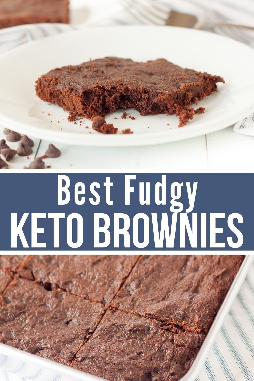 collage of keto brownies