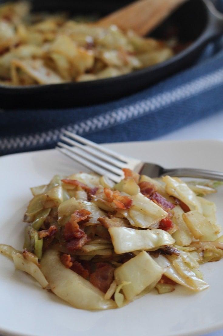 keto-friendly fried cabbage