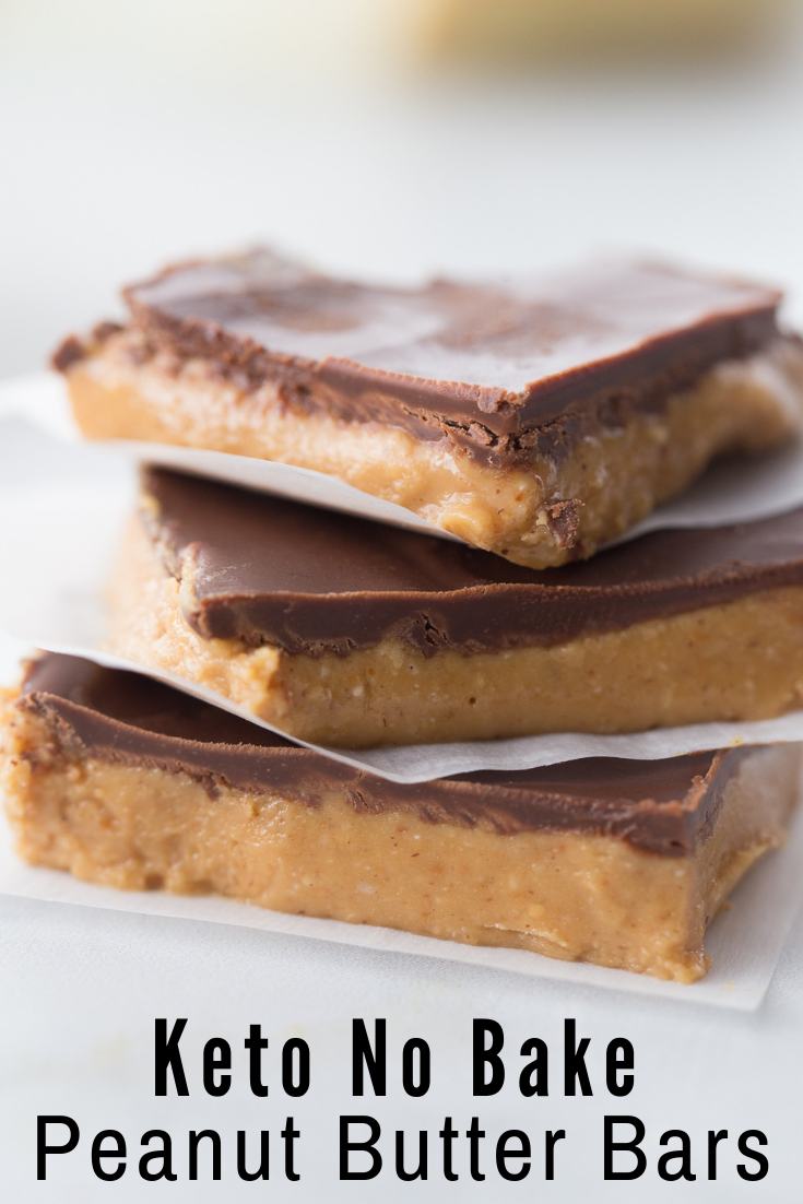 No Bake Keto Peanut Butter Chocolate Bars