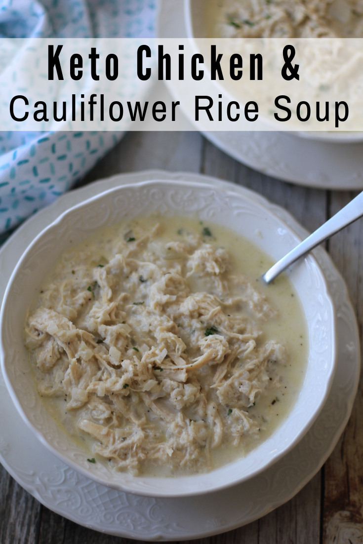 Keto Chicken and Cauliflower Rice Soup