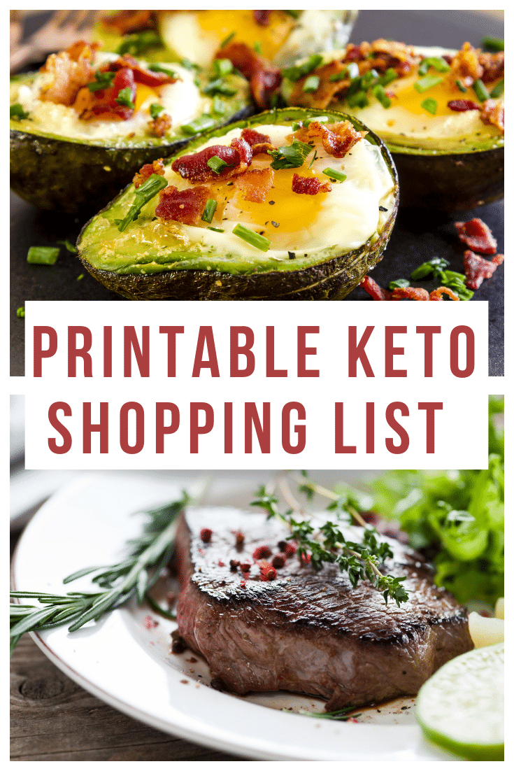 This printable Keto Shopping List is a must have when grocery shopping. #keto #lowcarb