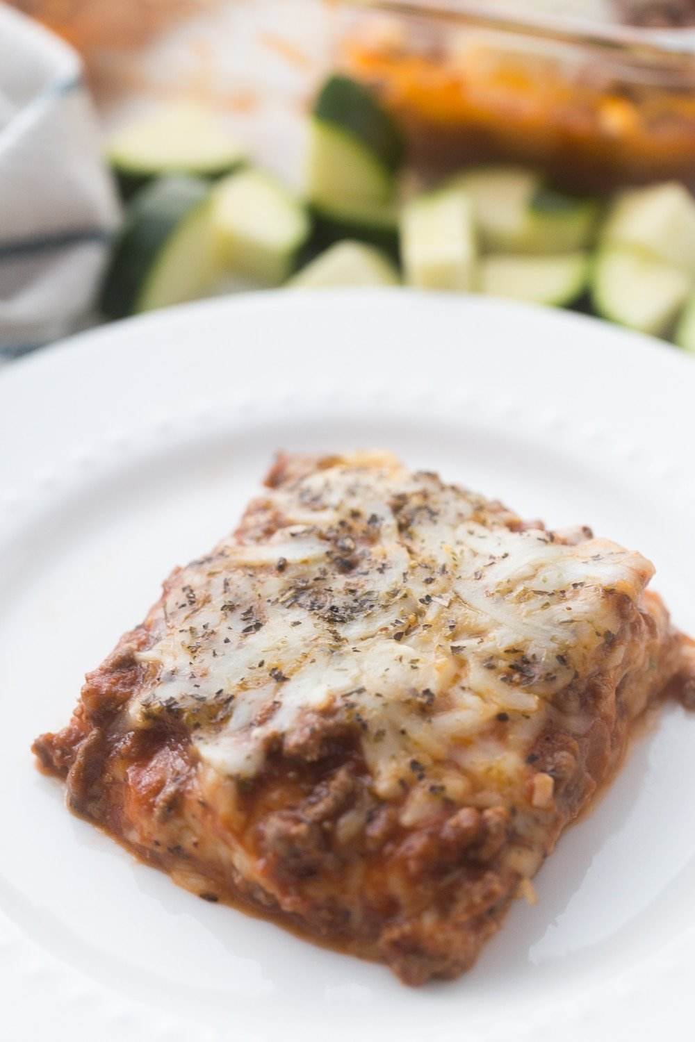 This Keto Zucchini Lasagna recipe is the perfect way to enjoy that lasagna taste without the noodles, which add too many carbs for those of us following a keto lifestyle! It is simple to make as well as delicious, and healthy!