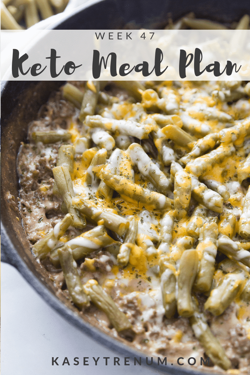 Keto Meal Plan Week 47
