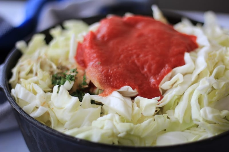 Low carb Unstuffed Cabbage Skillet