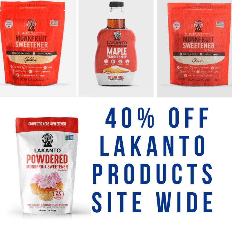 Lakanto Monkfruit 40% off Site Wide!