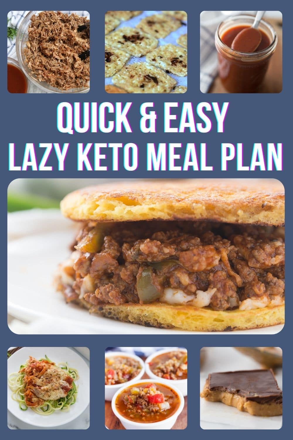 quick and easy lazy keto meal plan collage