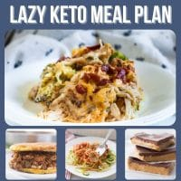 collage of lazy keto meal plan food images