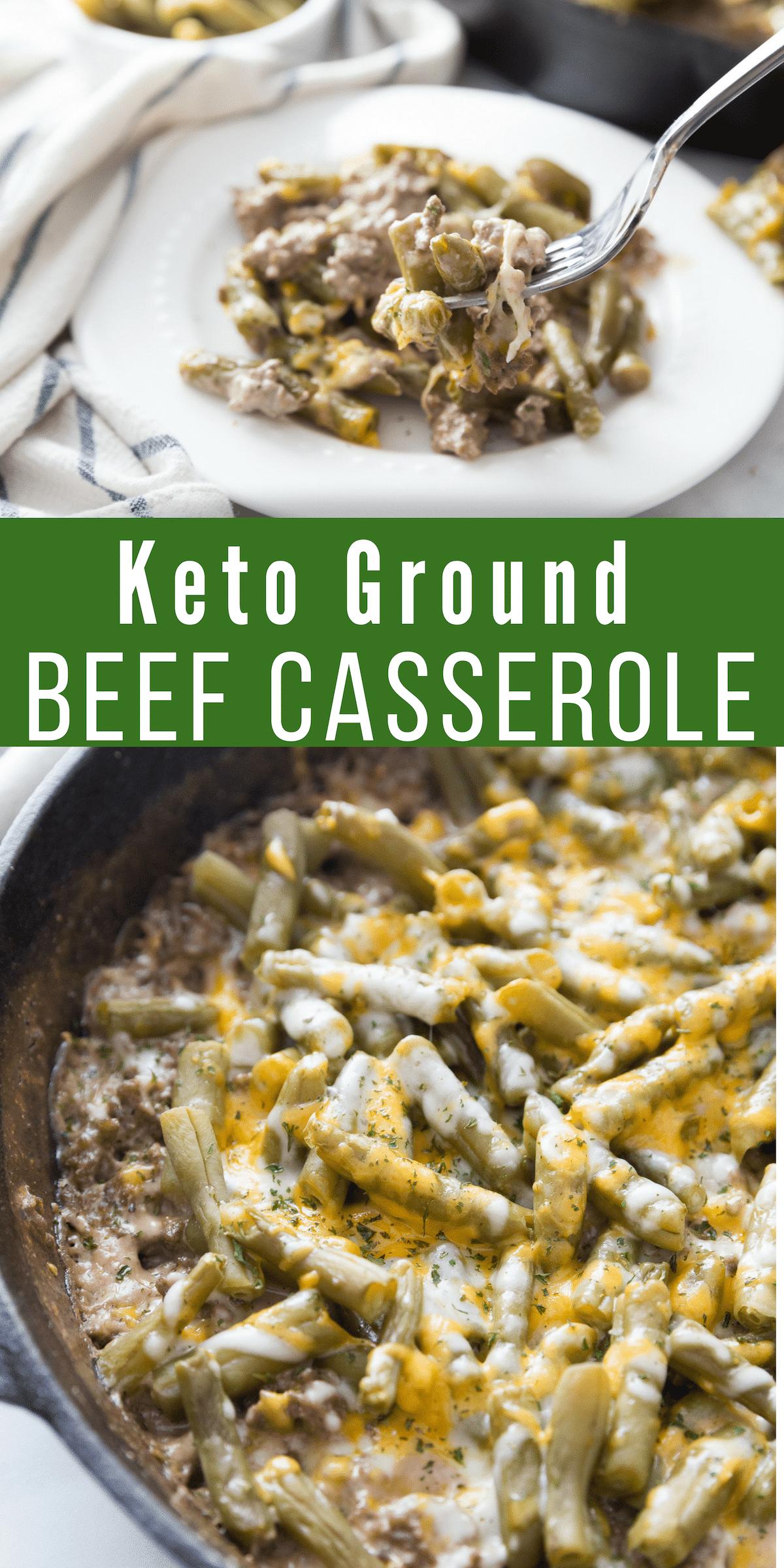 keto ground beef recipe collage