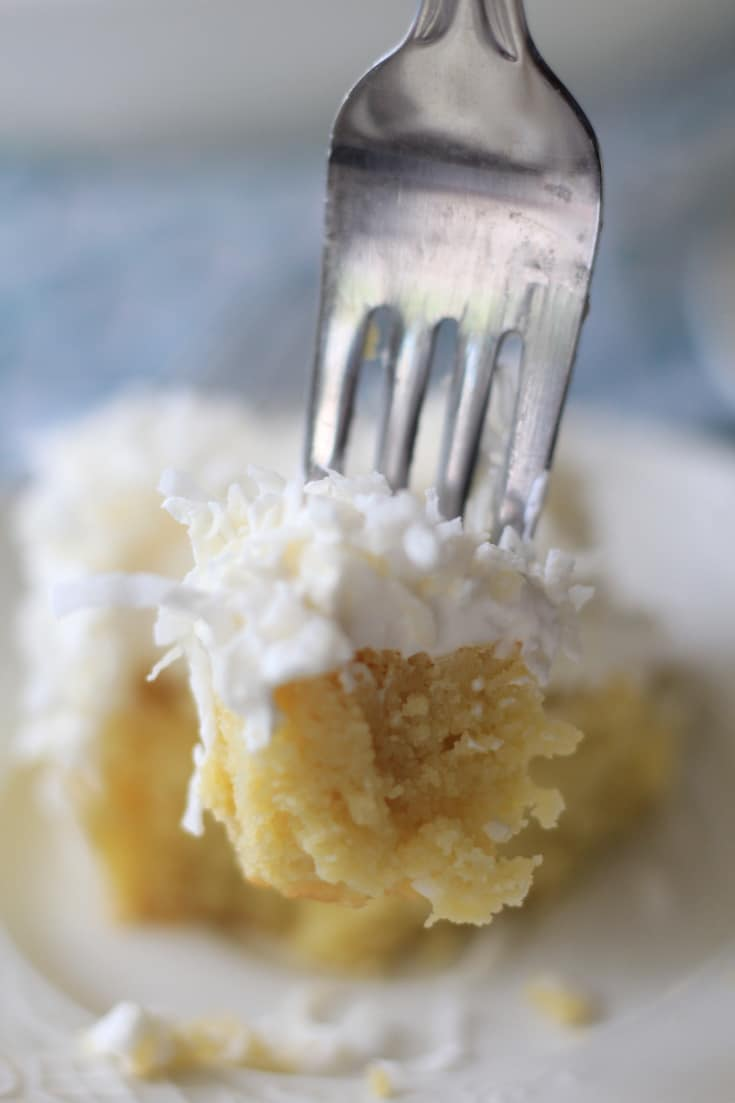 This delicious homemade creamy Keto Coconut Cake is the perfect low carb dessert for those following a keto diet.  #keto #lowcarb