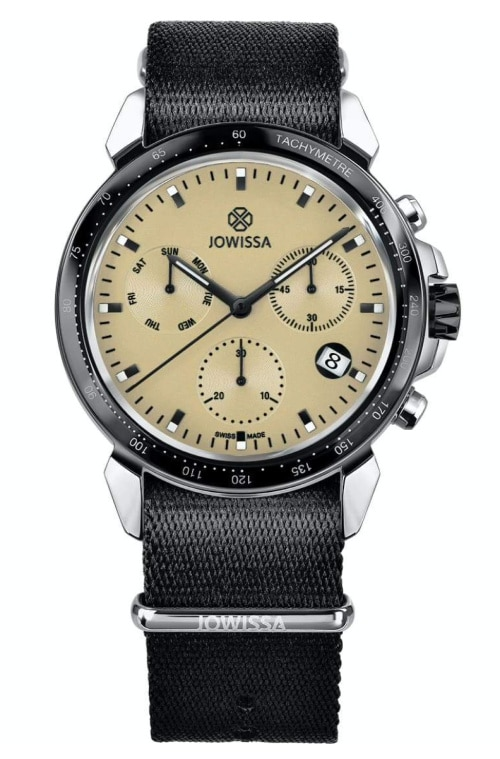 JOWISSA watch for men with a black band and and silver trim