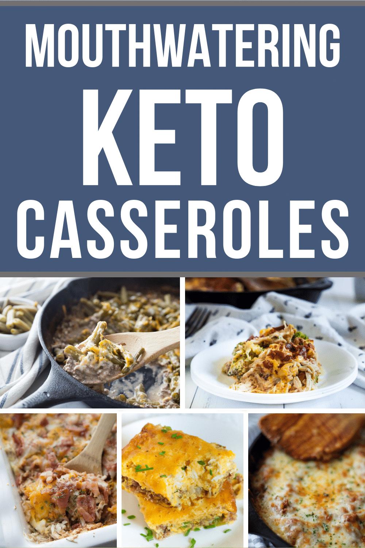 A photo collage of Keto Casseroles
