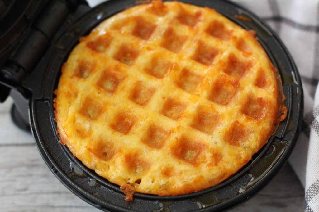 chaffle in dash waffle maker