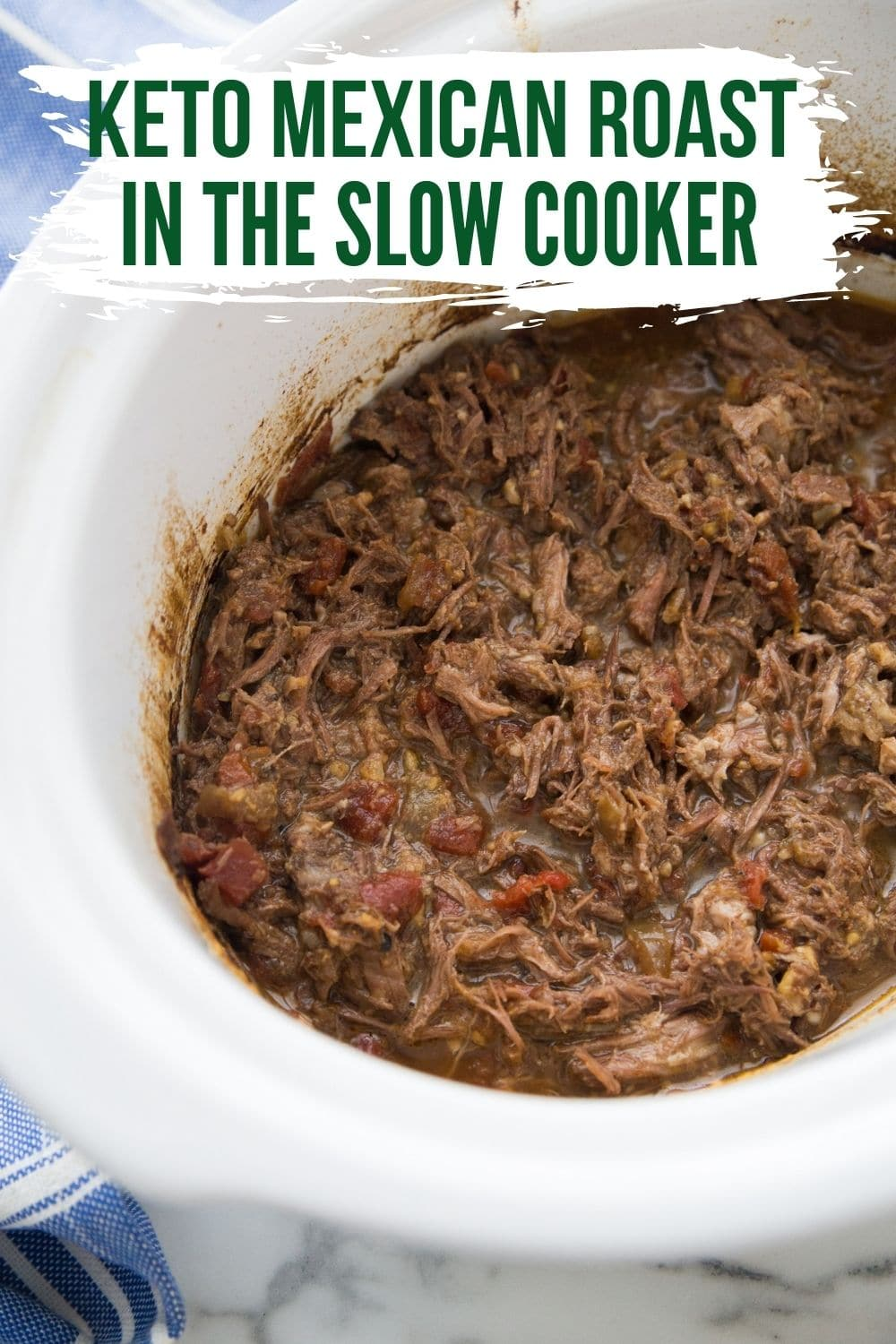 Keto Mexican Pot Roast in the Slow Cooker