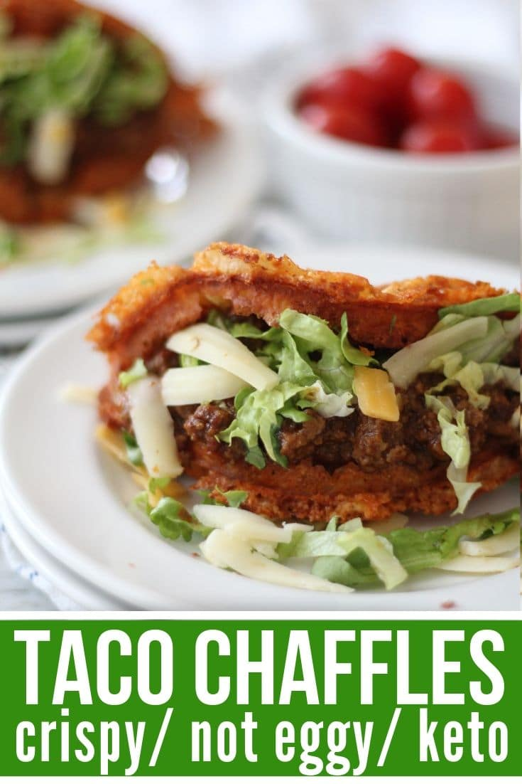 taco Chaffles plated - crispy and not eggy