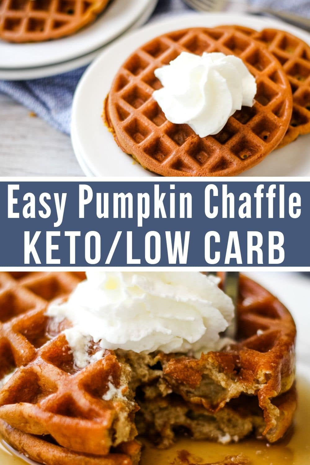 pumpkin Chaffle plated collage
