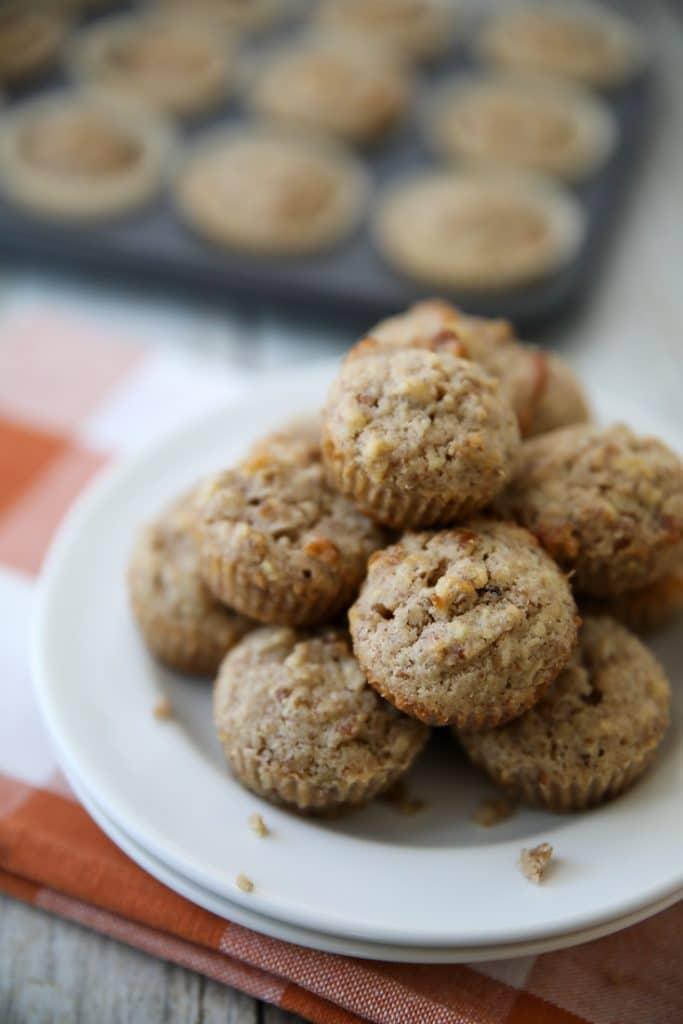 keto pumpkin pie muffins plated
