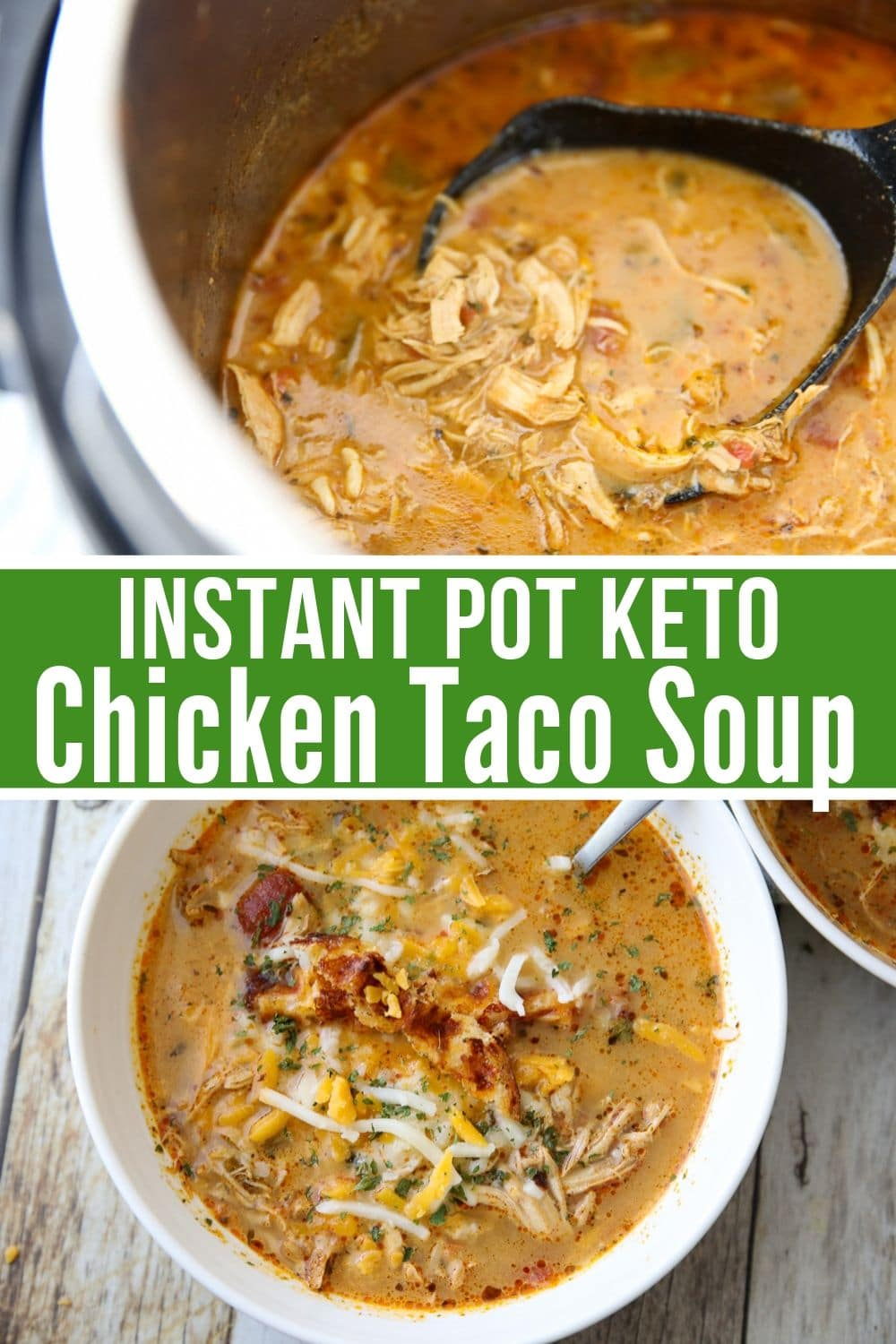 collage of Instant Pot Keto Chicken Soup