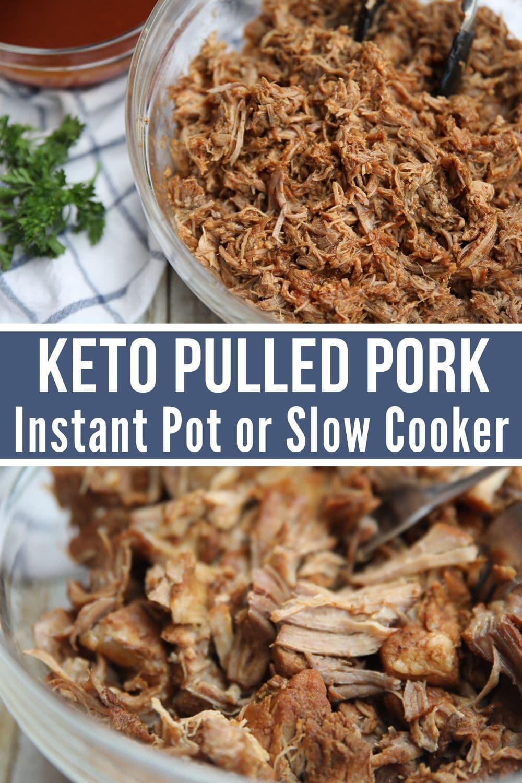 keto pulled pork collage