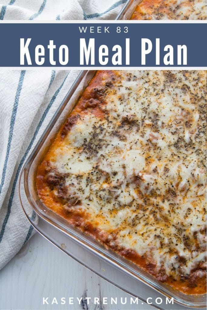 Keto Lasagna in a clear dish meal plan