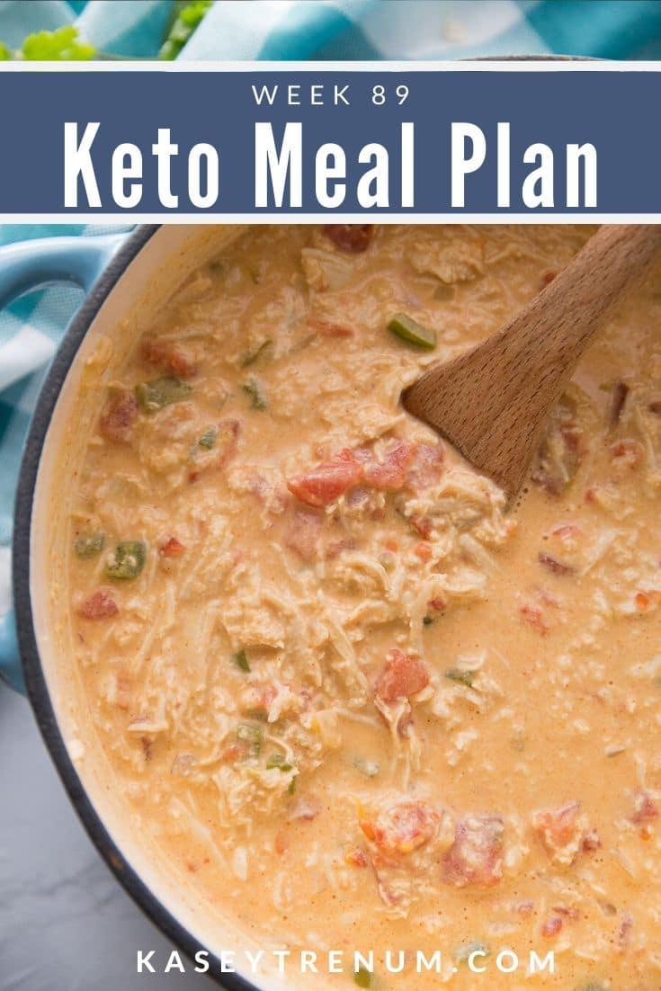 Keto Low Chicken Fajita Soup Meal Plan in a bowl