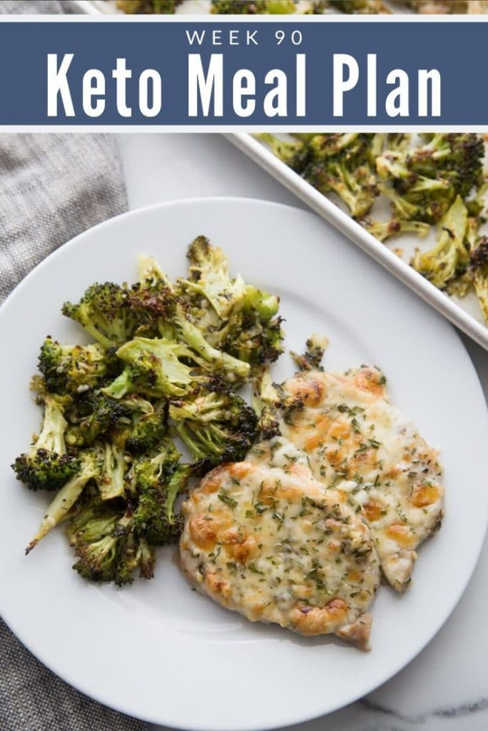 Keto Chicken and Broccoli on a white plate