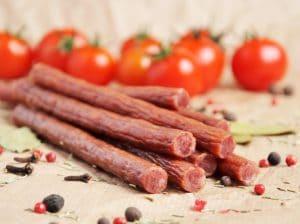 sticks of meat