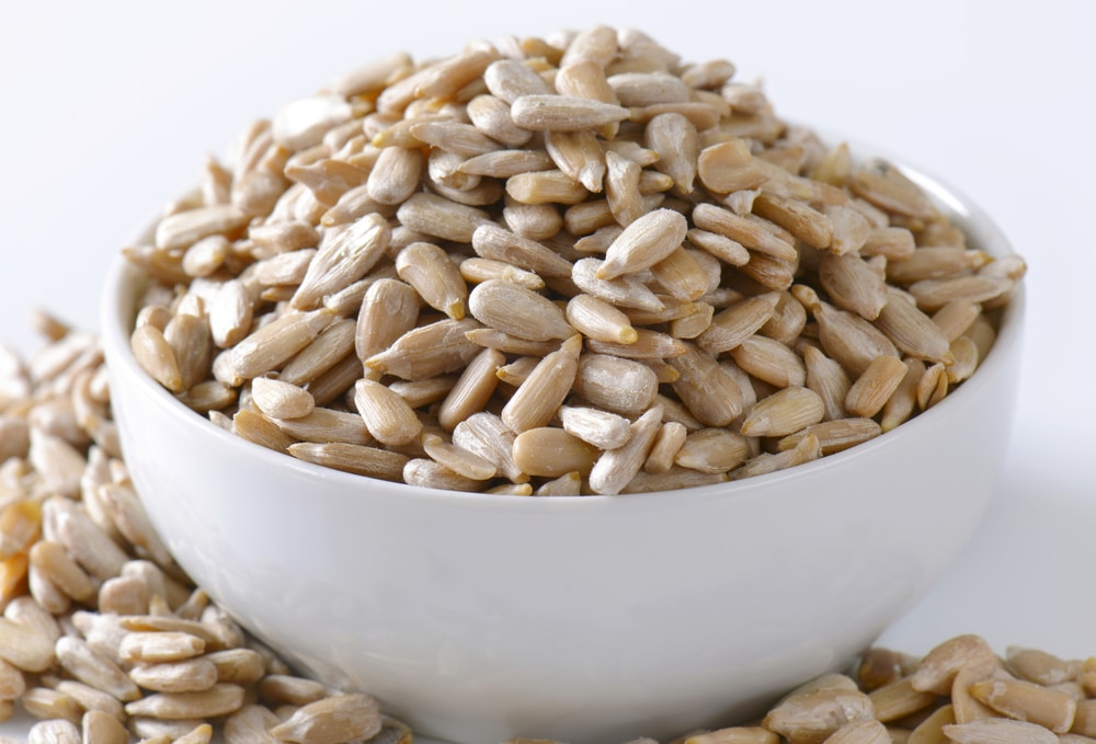 Raw hulled sunflower seed kernels