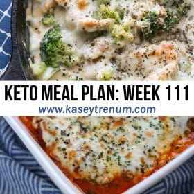 A collage of two Keto recipes for keto meal plans