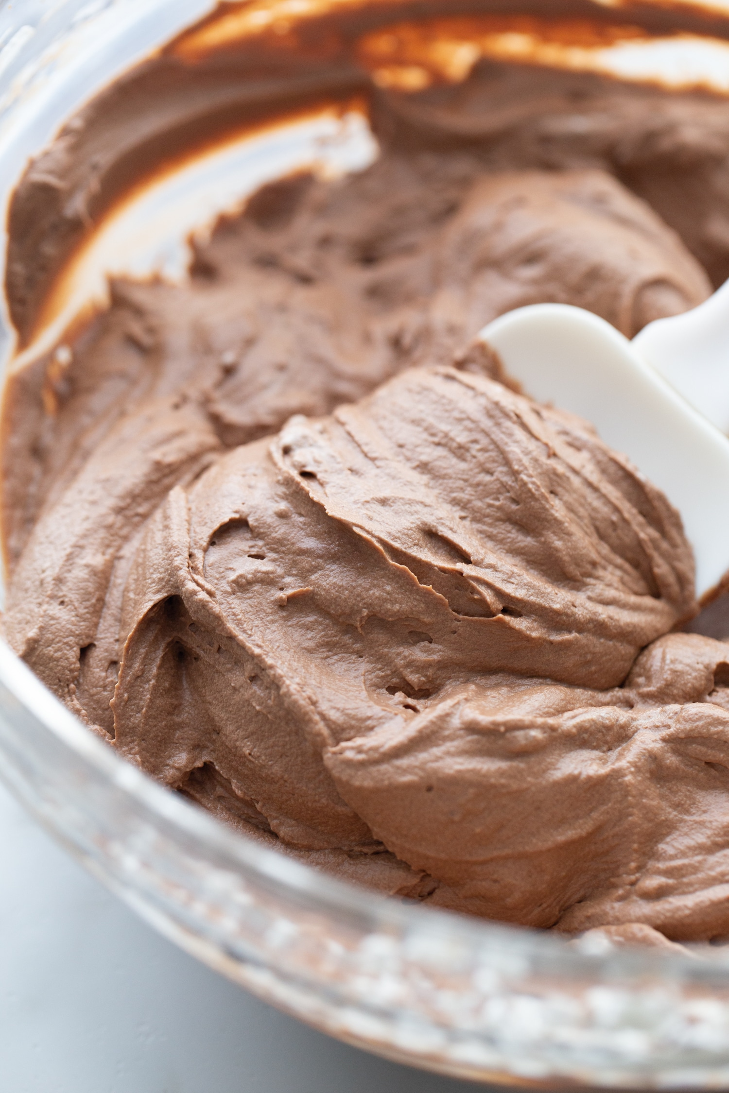 keto chocolate silk pie filling in a bowl