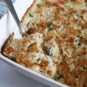 easy keto chicken cordon bleu casserole