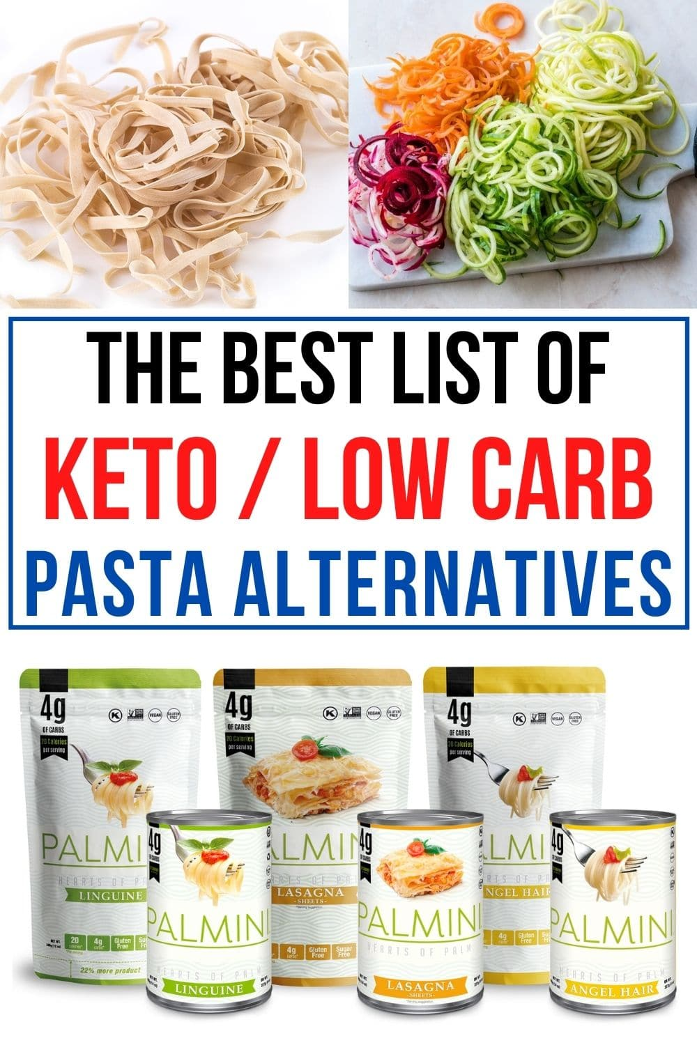 low carb pasta options in place of noodles