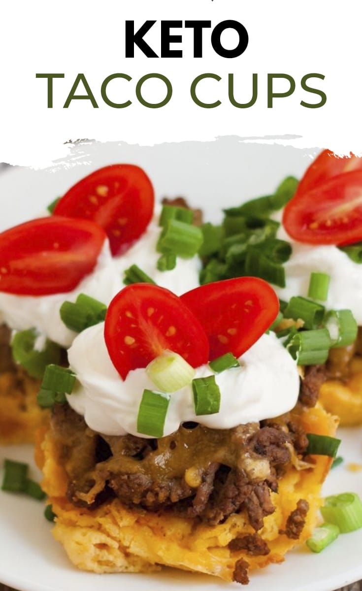 Delicious low carb taco cups