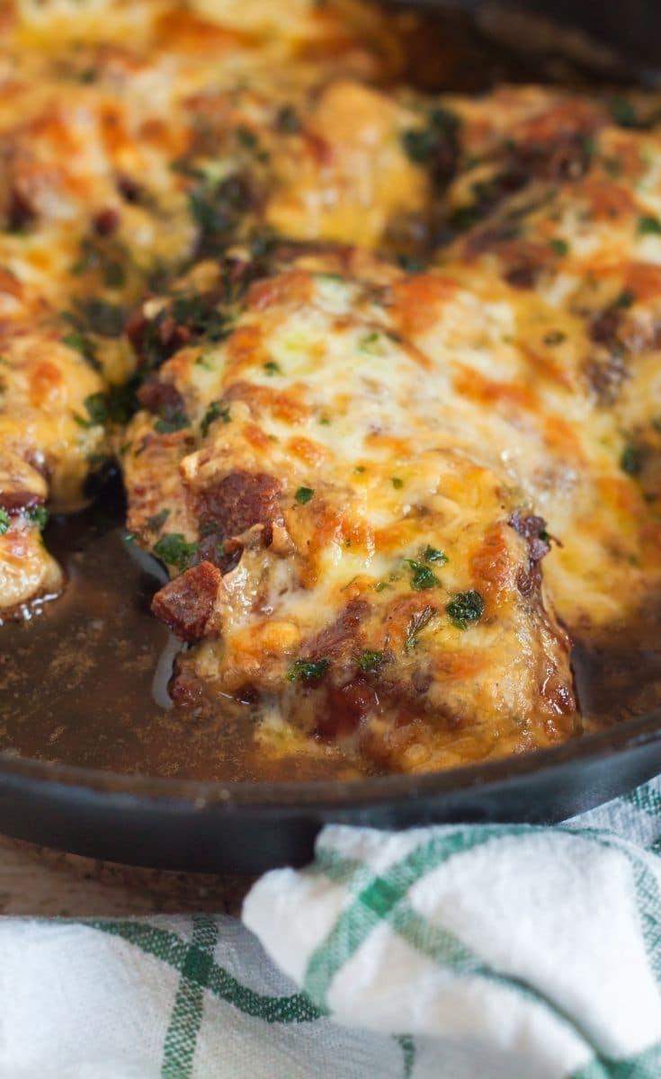 Monterey Chicken Cooking In Pan