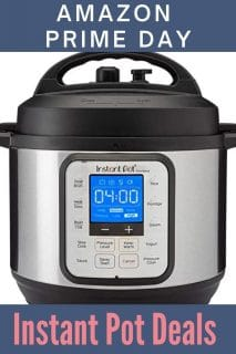 Image of an Instant Pot with text for Amazon Prime Day
