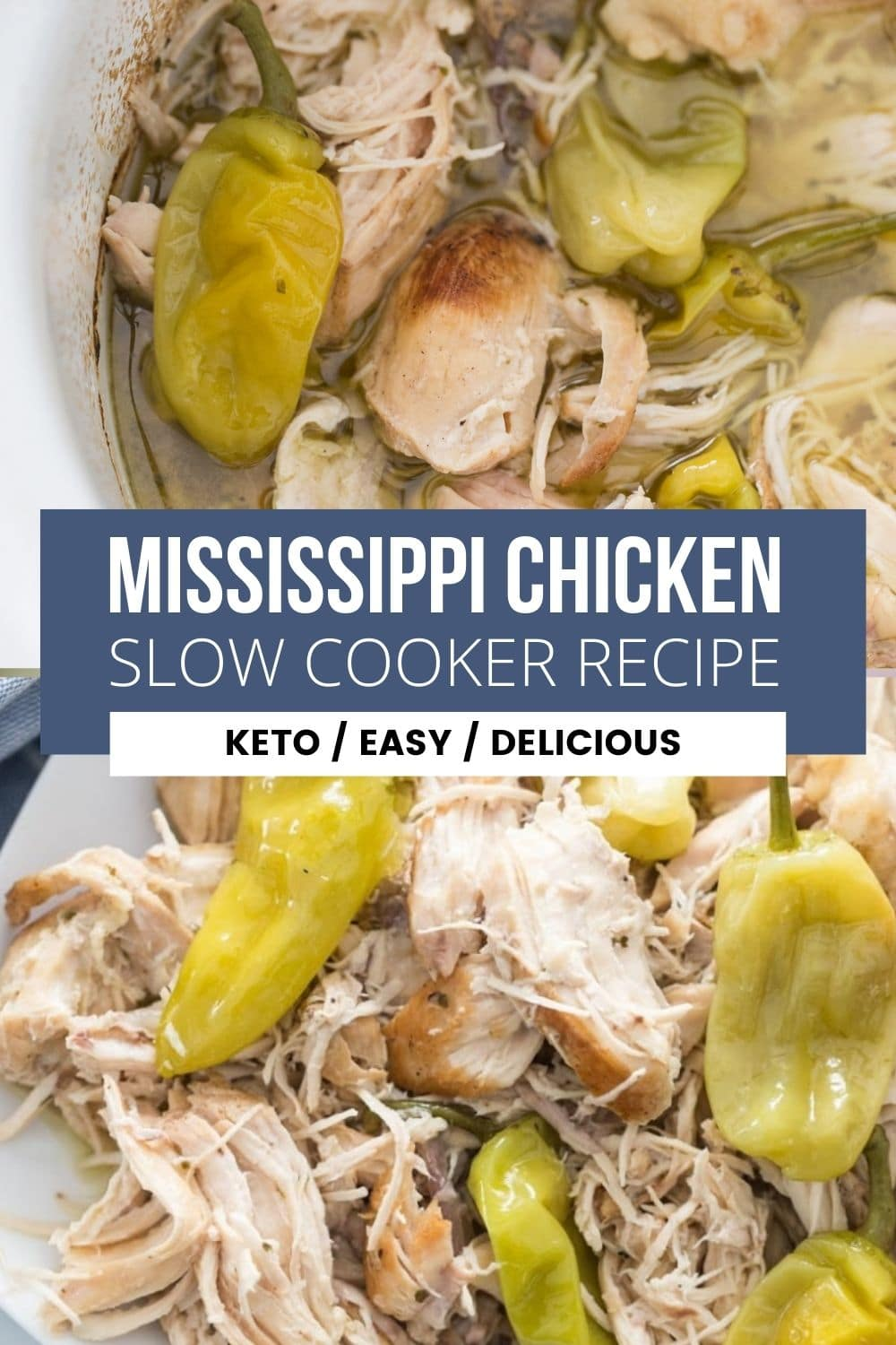 collage of Mississippi Chicken slow cooker recipe